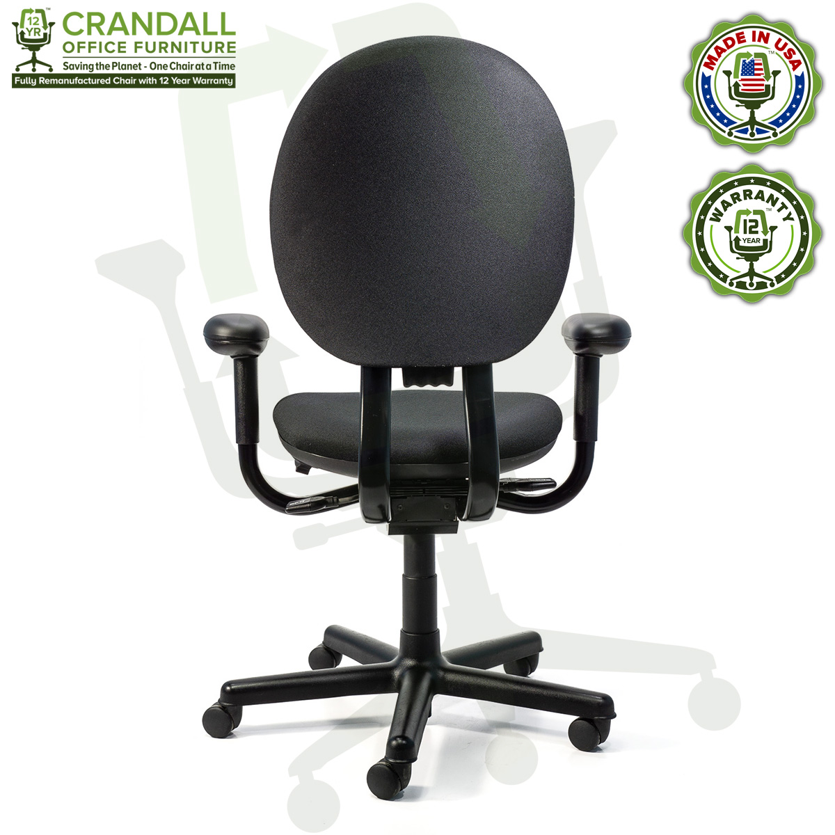 Crandall Office Furniture Remanufactured Steelcase Criterion Chair with 12 Year Warranty - 05