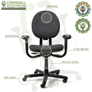Crandall Office Furniture Remanufactured Steelcase Criterion Chair with 12 Year Warranty - 09
