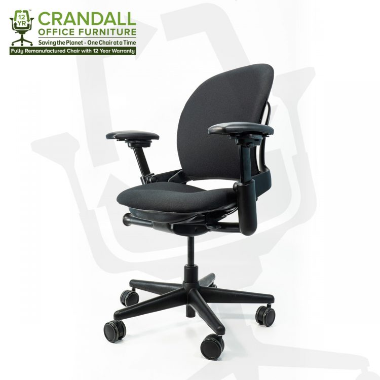 Crandall Office Furniture Remanufactured Steelcase 462 Leap V1 Office Chair with 12 Year Warranty 0002