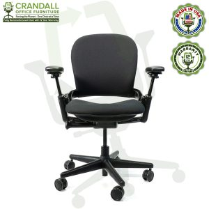 Crandall Office Furniture Remanufactured Steelcase V1 Leap Chair with 12 Year Warranty - 01