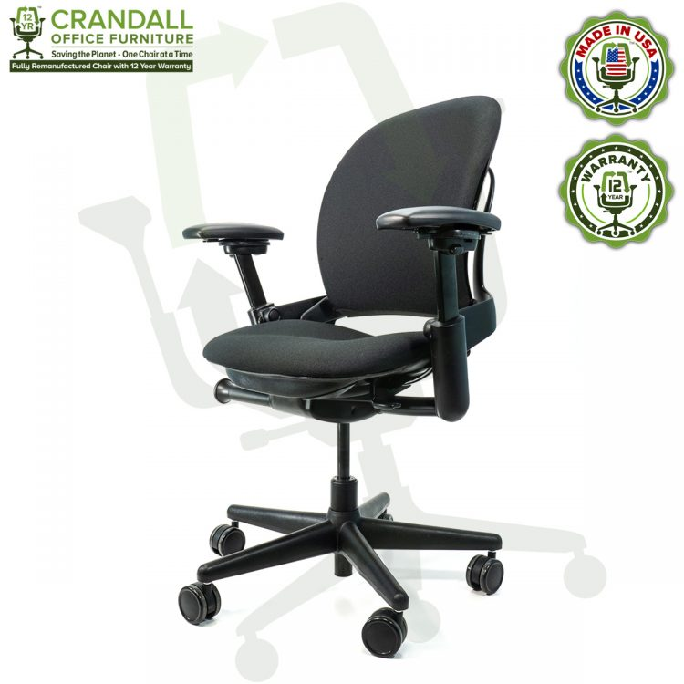Crandall Office Furniture Remanufactured Steelcase V1 Leap Chair with 12 Year Warranty - 02