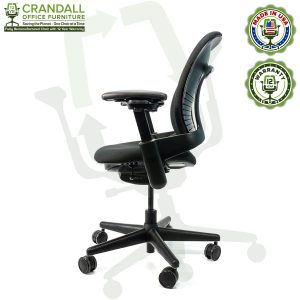 Crandall Office Furniture Remanufactured Steelcase V1 Leap Chair with 12 Year Warranty - 03