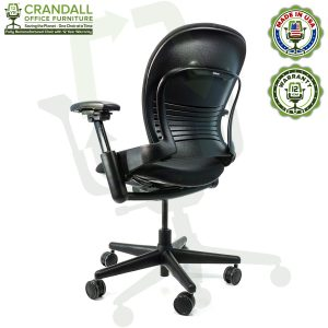 Crandall Office Furniture Remanufactured Steelcase V1 Leap Chair with 12 Year Warranty - 04