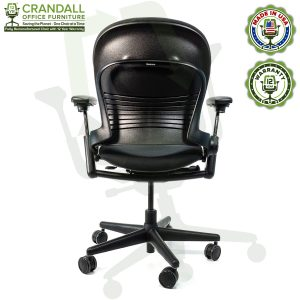 Crandall Office Furniture Remanufactured Steelcase V1 Leap Chair with 12 Year Warranty - 05