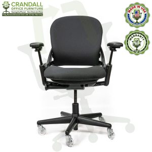 Crandall Office Furniture Remanufactured Steelcase V1 Leap Chair with 12 Year Warranty - Arch Back - 01