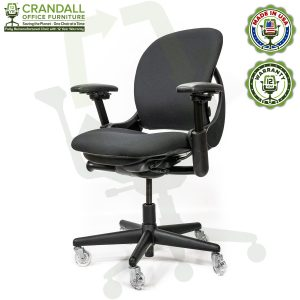 Crandall Office Furniture Remanufactured Steelcase V1 Leap Chair with 12 Year Warranty - Arch Back - 02