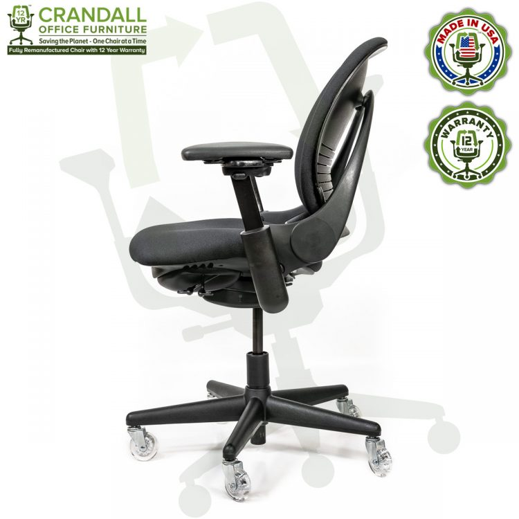 Crandall Office Furniture Remanufactured Steelcase V1 Leap Chair with 12 Year Warranty - Arch Back - 03