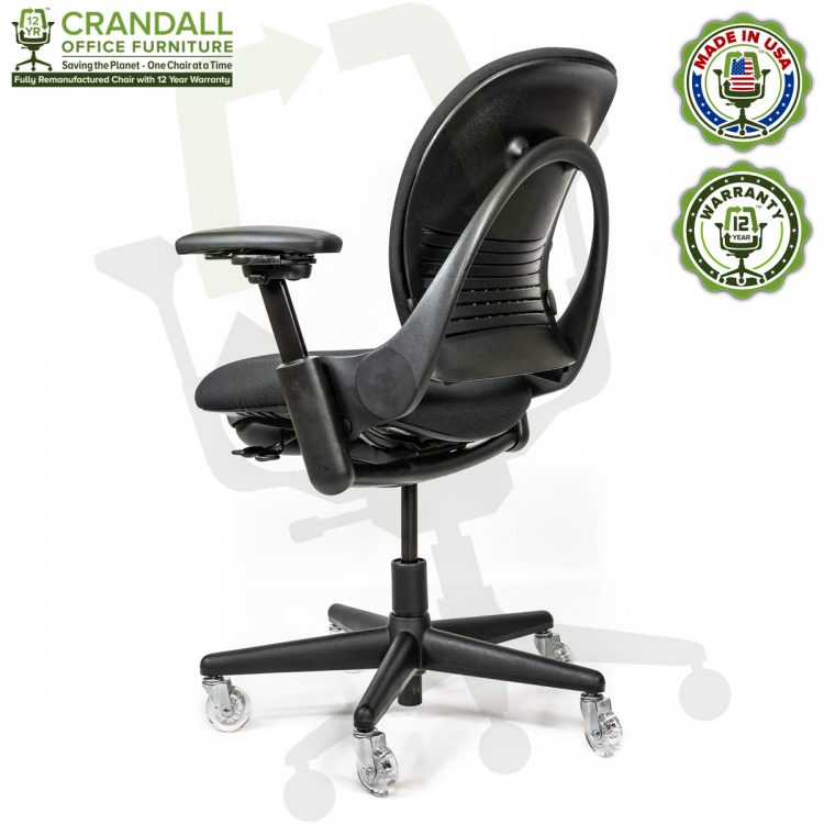Crandall Office Furniture Remanufactured Steelcase V1 Leap Chair with 12 Year Warranty - Arch Back - 04
