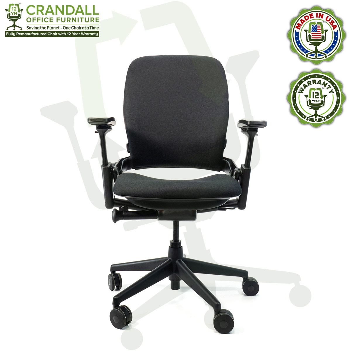 Remanufactured Steelcase 332 Leap V32 Office Chair - Crandall