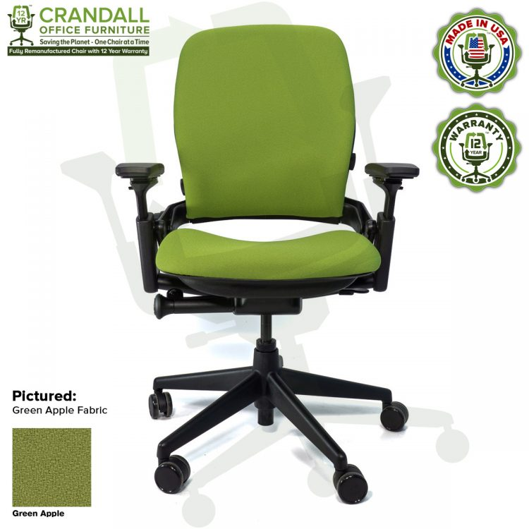 Crandall-Office-Remanufactured-Steelcase-462-V2-Leap-Chair-Color-Green-Apple