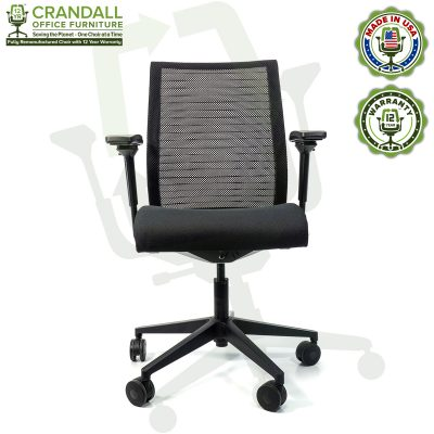 Crandall Office Furniture Remanufactured Steelcase Think Chair with 12 Year Warranty - 01