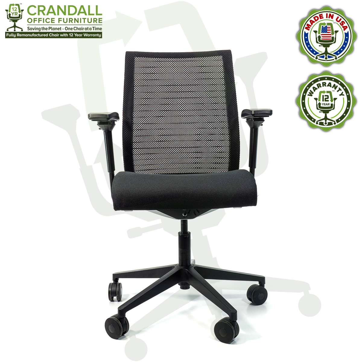 Remanufactured Steelcase 47 Think Office Chair - Mesh Back