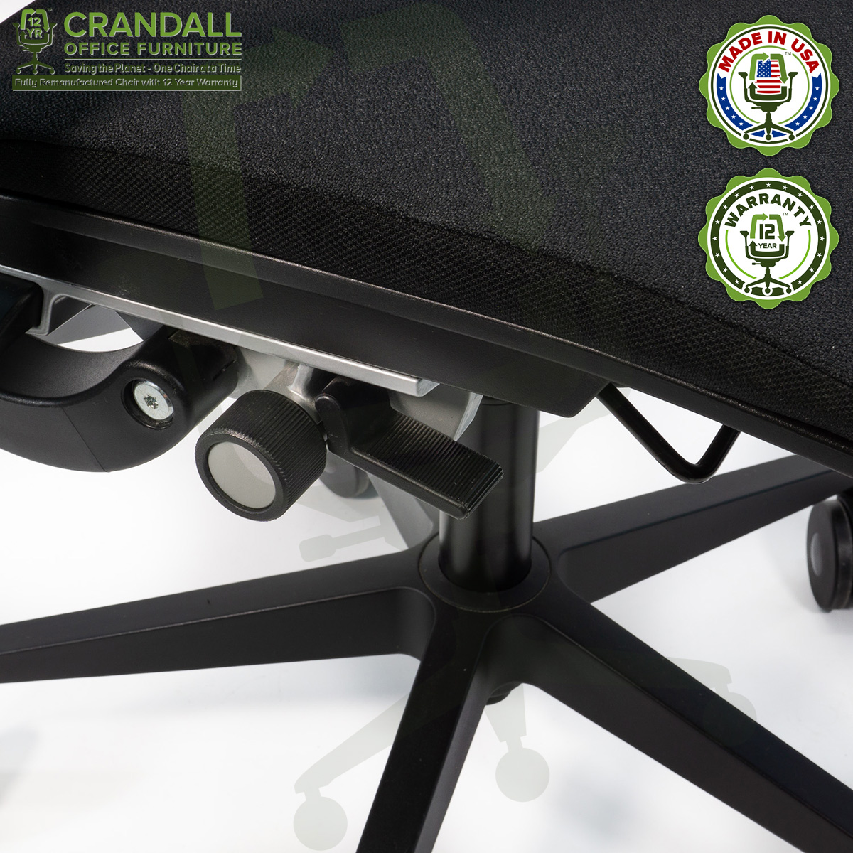 Crandall Office Furniture Remanufactured Steelcase Think Chair with 12 Year Warranty - 06