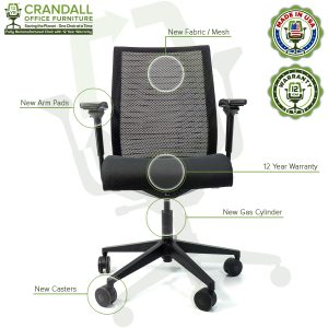 Crandall Office Furniture Remanufactured Steelcase Think Chair with 12 Year Warranty - 08