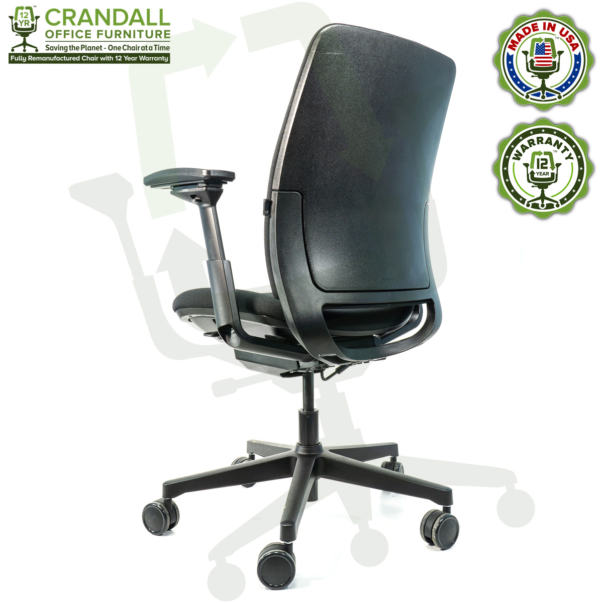 Crandall Office Furniture Remanufactured Steelcase Amia Chair with 12 Year Warranty - 04
