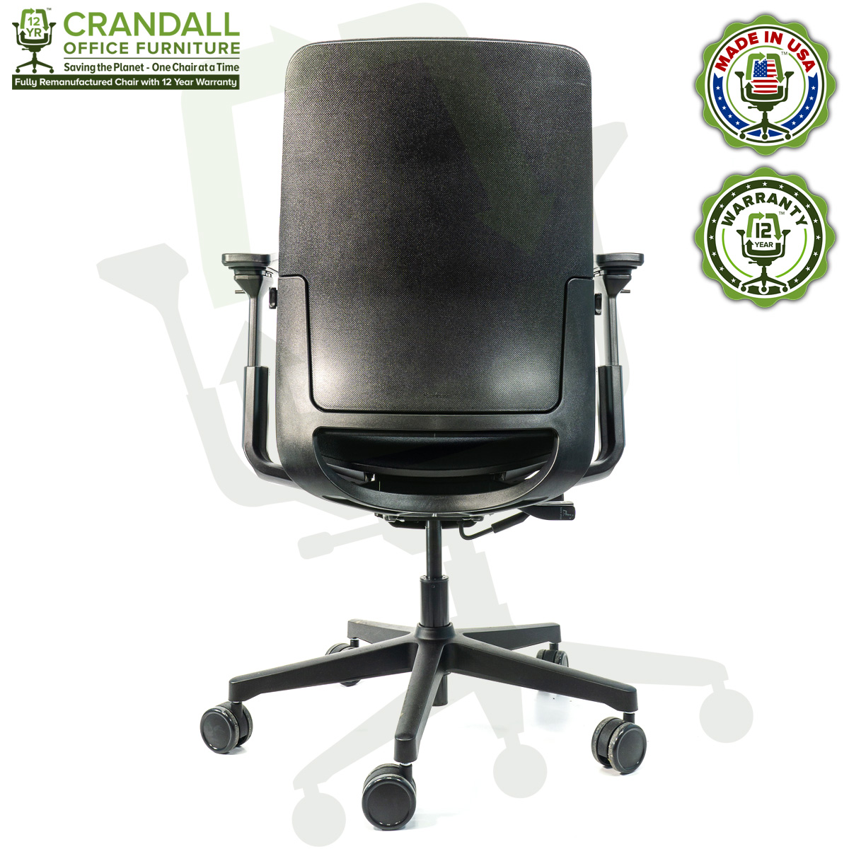 Crandall Office Furniture Remanufactured Steelcase Amia Chair with 12 Year Warranty - 05