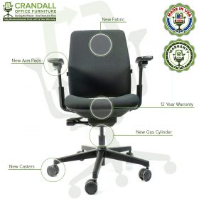 Crandall Office Furniture Remanufactured Steelcase Amia Chair with 12 Year Warranty - 09