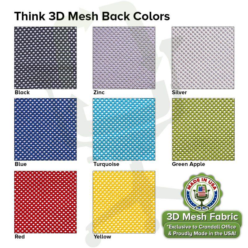 Think 3D Mesh Back Colors