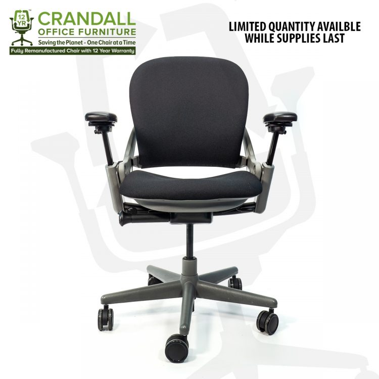 Crandall Office Furniture Remanufactured Steelcase 462 Leap V1 Office Chair Sterling Frame with 12 Year Warranty 0001