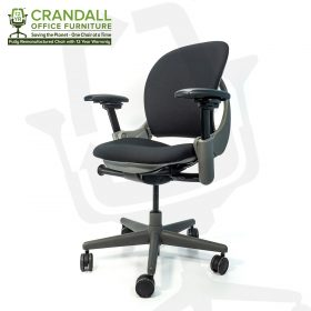 Crandall Office Furniture Remanufactured Steelcase 462 Leap V1 Office Chair Sterling Frame with 12 Year Warranty 0002