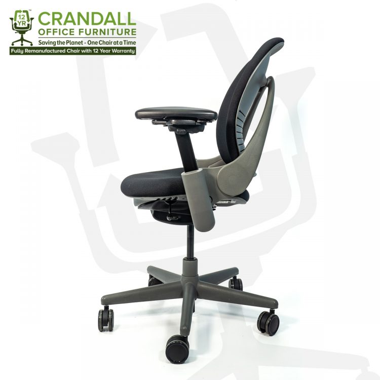 Crandall Office Furniture Remanufactured Steelcase 462 Leap V1 Office Chair Sterling Frame with 12 Year Warranty 0003