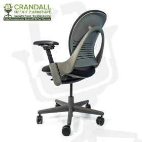 Crandall Office Furniture Remanufactured Steelcase 462 Leap V1 Office Chair Sterling Frame with 12 Year Warranty 0004