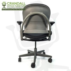 Crandall Office Furniture Remanufactured Steelcase 462 Leap V1 Office Chair Sterling Frame with 12 Year Warranty 0005