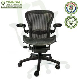 Crandall Office Furniture Refurbished Herman Miller Aeron Chair with 2 Year Warranty - 01