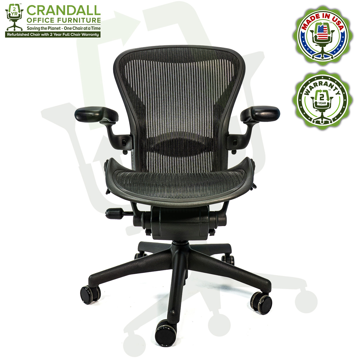 Refurbished Herman Miller Aeron Chairs Fast Free Us Shipping 549