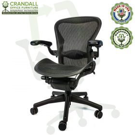 Crandall Office Furniture Refurbished Herman Miller Aeron Chair with 2 Year Warranty - 02