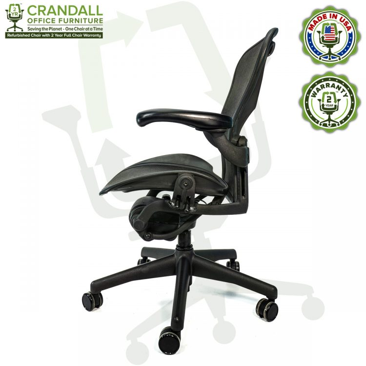 Crandall Office Furniture Refurbished Herman Miller Aeron Chair with 2 Year Warranty - 04