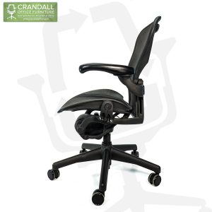 Crandall Office Refurbished Herman Miller Aeron Chair Black Frame and Mesh 3D01 Size B 0004