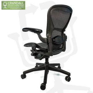 Crandall Office Refurbished Herman Miller Aeron Chair Black Frame and Mesh 3D01 Size B 0005
