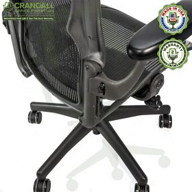 Crandall Office Furniture Refurbished Herman Miller Aeron Chair with 2 Year Warranty - 07