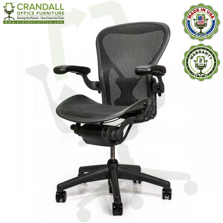 Crandall Office Refurbished Herman Miller Aeron Chair with PostureFit - Size B - 0002