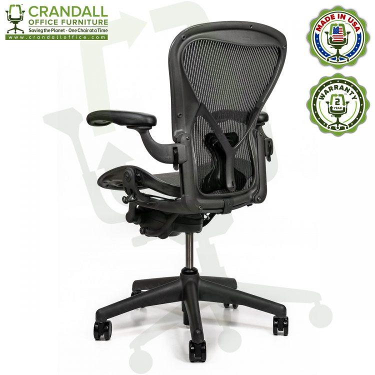 Crandall Office Refurbished Herman Miller Aeron Chair with PostureFit - Size B - 0004