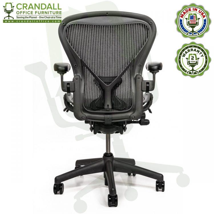 Crandall Office Refurbished Herman Miller Aeron Chair with PostureFit - Size B - 0005