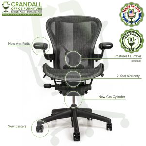 Crandall Office Refurbished Herman Miller Aeron Chair with PostureFit - Size B - 0006