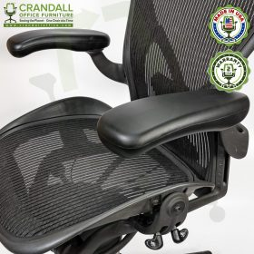 Crandall Office Refurbished Herman Miller Aeron Chair with PostureFit - Size B - 0007