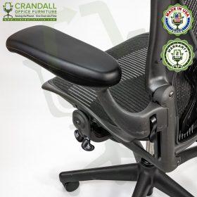 Crandall Office Refurbished Herman Miller Aeron Chair with PostureFit - Size B - 0008