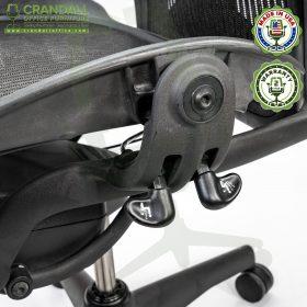 Crandall Office Refurbished Herman Miller Aeron Chair with PostureFit - Size B - 0009