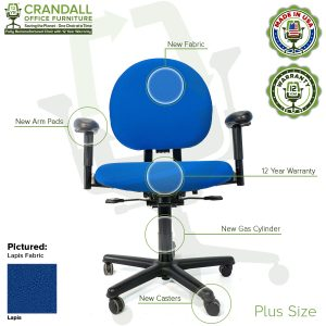 Crandall Office Furniture Remanufactured Steelcase Criterion Plus Chair with 12 Year Warranty - 06