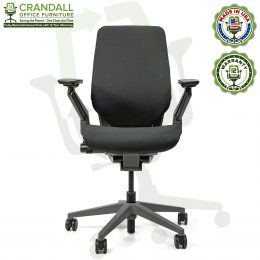 Crandall Office Furniture Remanufactured Steelcase Gesture Office Chair Platinum/Merle Frame 01