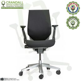 Crandall Remanufactured Steelcase 442 Gesture Chair with Wrap Back and Platinum / Seagull Frame 0