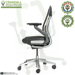 Crandall Remanufactured Steelcase 442 Gesture Chair with Wrap Back and Platinum / Seagull Frame 03