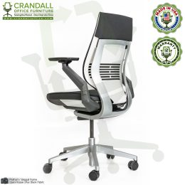 Crandall Remanufactured Steelcase 442 Gesture Chair with Wrap Back and Platinum / Seagull Frame 04