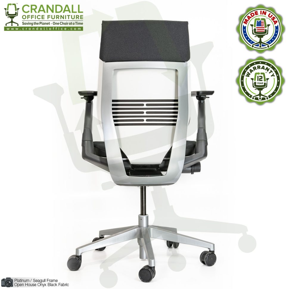 Crandall Remanufactured Steelcase 442 Gesture Chair with Wrap Back and Platinum / Seagull Frame 05