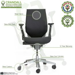 Crandall Remanufactured Steelcase 442 Gesture Chair with Wrap Back and Platinum / Seagull Frame 06