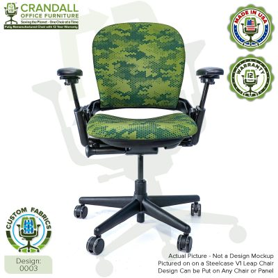 Custom Fabric Remanufactured Steelcase V1 Leap Chair - Design 0003