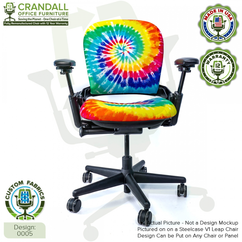 Custom Fabric Remanufactured Steelcase V1 Leap Chair - Design 0005